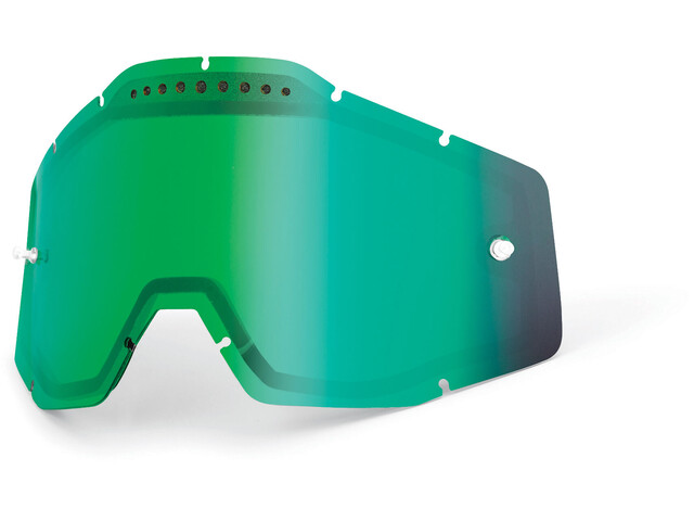 100% Vented Dual Replacement Lenses, green / mirror